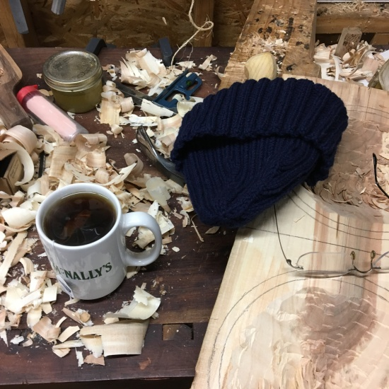 It was cold, my wife brought me tea and a hat. I'm a very lucky and appreciative husband.